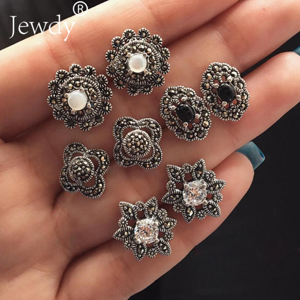 4 Pairs/Set Variety Bijoux Clover Flower Crystal Stud Earring Set for Woman Boucle Doreille Jewelry Dazzling Earring Brincos