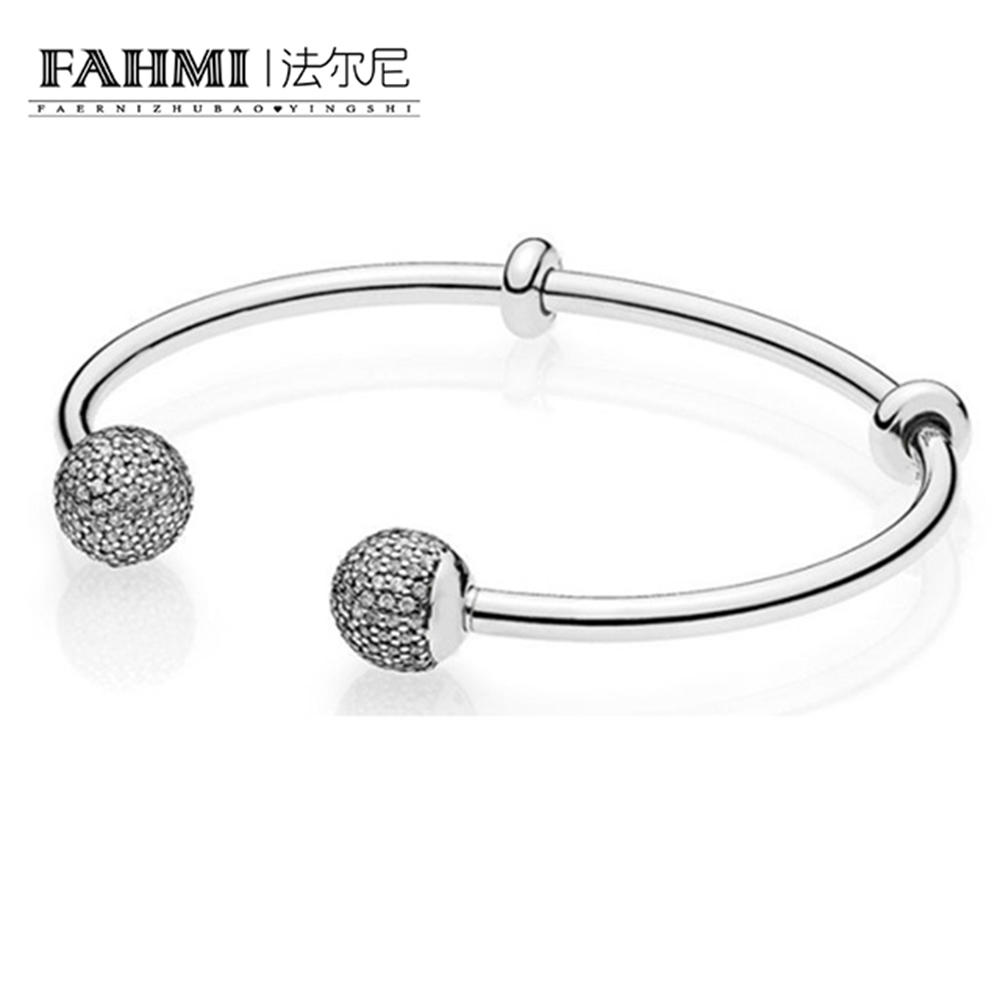 FAHMI The Latest MOMENTS 925 Sterling Silver Double-Headed Beads Pattern Bangle DIY A Bracelet Charms Birthday Gift 596438CZFAHMI The Latest MOMENTS 925 Sterling Silver Double-Headed Beads Pattern Bangle DIY A Bracelet Charms Birthday Gift 596438CZ