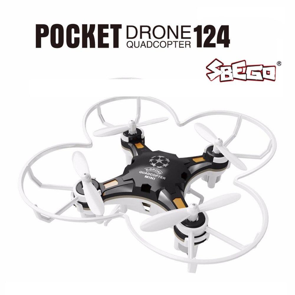 Sbego fq777-124 mini drone micro bolsillo 4ch 6 AXIS Gyro switchable controlador RC helicóptero niños Juguetes vs jjrc h37 h31 quadcopter