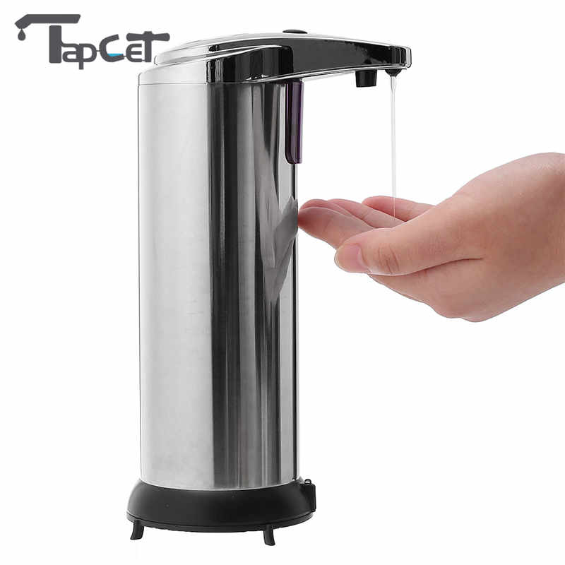 tapcet 280ml chrome plated automatic liquid soap dispenser sensor bathroom hotel hands soap dispensers bathroom hardware