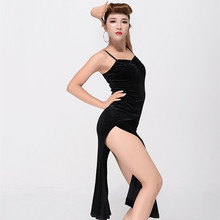black Velvet latin dance costumes for women latin dress fringe fringe latin ballroom dress sexy tango dresses salsa rumba