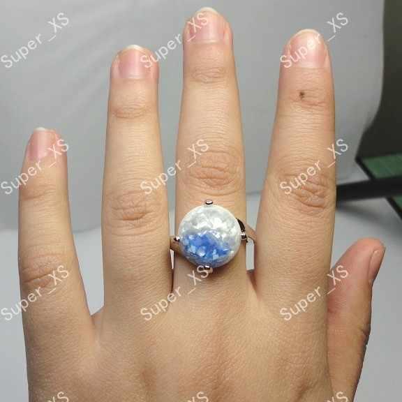 Moda legal venda quente por atacado lotes jóias 12 pçs abalone liga escudo banhado a prata anéis novo frete grátis lb100
