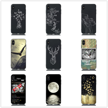 For Huawei P30 P20 Lite Case Deer Head Pattern Tpu Soft Cover Huawai Pro Adorable Animal Cat Protective