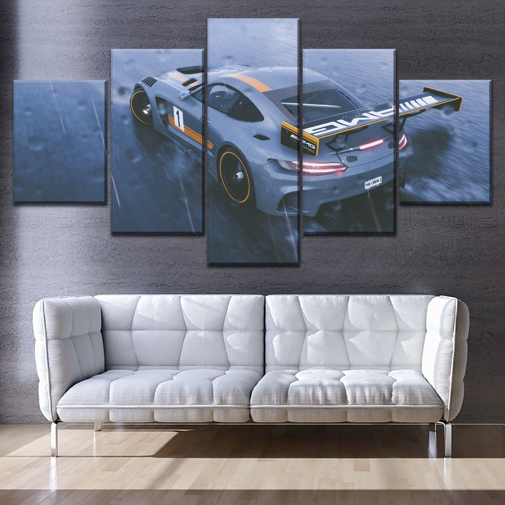 Mercedes AMG GT Sports Car CANVAS WALL ART DECO LARGE READY TO HANG all sizes