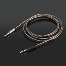 Substituição atualização prata chapeado cabo de áudio fio para b & o beoplay h4 h6 h8 h7 h9 h2 h8i h9i fones de ouvido
