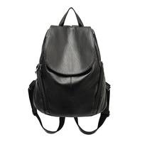 Women Soft Genuine Leather Backpack Vintage Backpacks For Teenage Girls School Bags High Quality Mochila Feminina