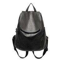 Women Leather Backpack High Quality Fashion Leisure Kanken Backpacks For Teenage Girls School Travel Bags Sac