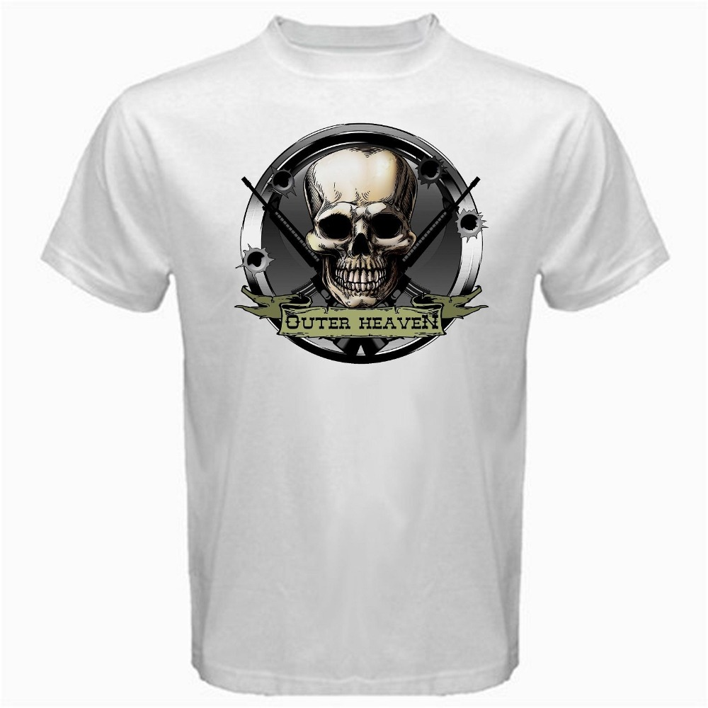 Personalized T Shirts Outer Heaven Metal Gear Online Game Crew Neck Men Short Sleeve Best Friend Shirts