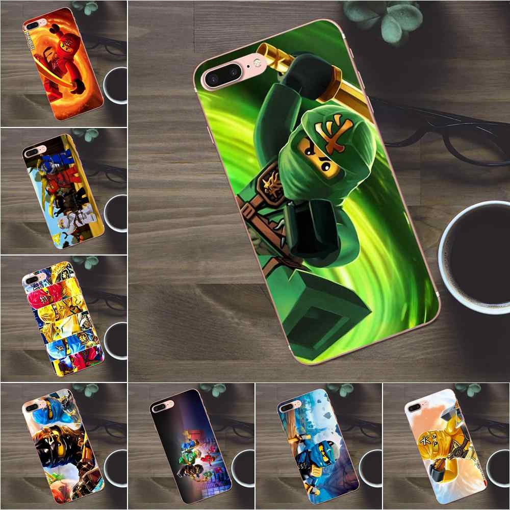 Bixedx Lego Ninjago étui de protection en polyuréthane thermoplastique Pour Apple iPhone 4 4s 5 5C SE 6 6 S 7 8 Plus X Galaxy A3 A5 J1 J2 J3 J5 J7 2017