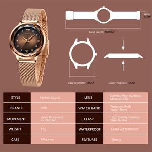 Image 4 - Fashion Women Watches 2019 CIVO Waterproof Rose Gold Steel Mesh Strap Quartz Women Watch Top Brand Ladies Clock Relogio Feminino