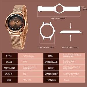 Image 4 - Moda feminina relógios 2019 civo à prova dwaterproof água rosa ouro aço malha cinta de quartzo relógio feminino marca superior senhoras relógio relogio feminino