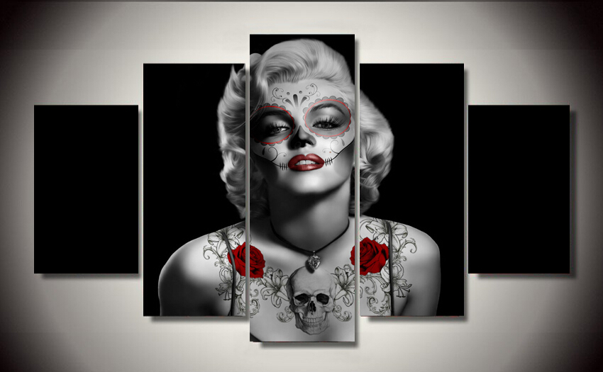 framed printed day of the dead marilyn monroe painting childrens room decor print poster picture canvas