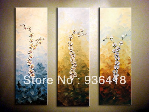 Orchid Contemporary Oil Painting.Oil.Impasto.Palette Knife.3 D ...