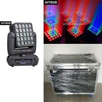 (4lot/CASE) LED matrix for projectors moving head panel led 25x10w rgbw led pixel moving head matrix light flight case