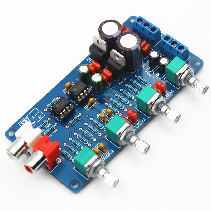New Arrival NE5532 OP-AMP HIFI Amplifier Preamplifier Volume Tone EQ Control Board DIY Kits freeshipping ne5532 op amp grade fever before the hifi amplifier board