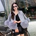 S-XXXL Plus Size Faux Fur Coats Womens Faux Sheepskin Coats Long Sleeve Fluffy Jacket Luxury Artificial Leather Jacket With Fur