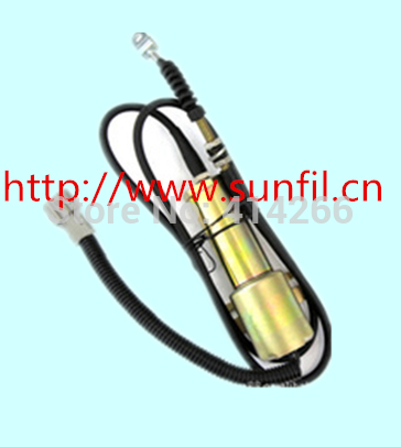 R210 Excavator Flameout Solenoid Shut Down Solenoid Stop Solenoid 11E1-60100 24V free fast shipping by dhl,ups,tnt,fedex... free shipping 3931590 for r220 pc150lc 6k pc160lc 6k pw160 7 excavator flameout shut off solenoid 24 volt