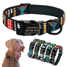 Personalized Dog Collar Custom Puppy Pet Pitbull Collars Pets Acessorios Products Small for Medium Large