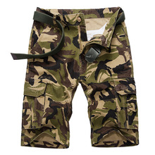 New Men Casual Cargo Short Mens Summer Style Overalls Camouflage Loose Multi Pocket Cotton Shorts font
