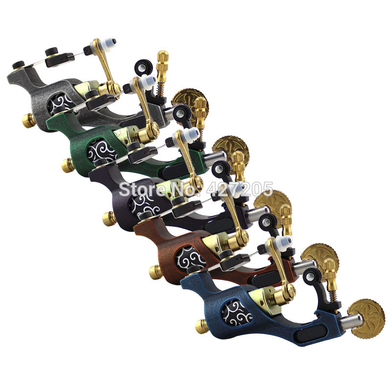ФОТО 2015 Newest Upgrade Steel Rotary Motor Tattoo Machine Gun for Liner & Shader 5 Colors U-pick Free Shipping