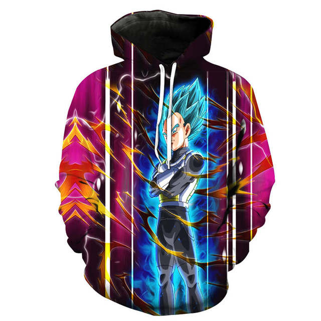 Dragon Ball Z Jacket Super Saiyan 3D Printed Sweatshirt Hoodie