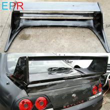 For Nissan Skyline R33 Carbon Fiber Gracer Spoiler Body Kit Car Styling Auto Tuning Part For GTR R33 GTR Rear Gracer Spoiler стоимость