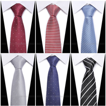 New Slim Luxury Tie  Silk Jacquard Woven Ties For Men 7cm Striped Neckties Mans Neck Wedding Business