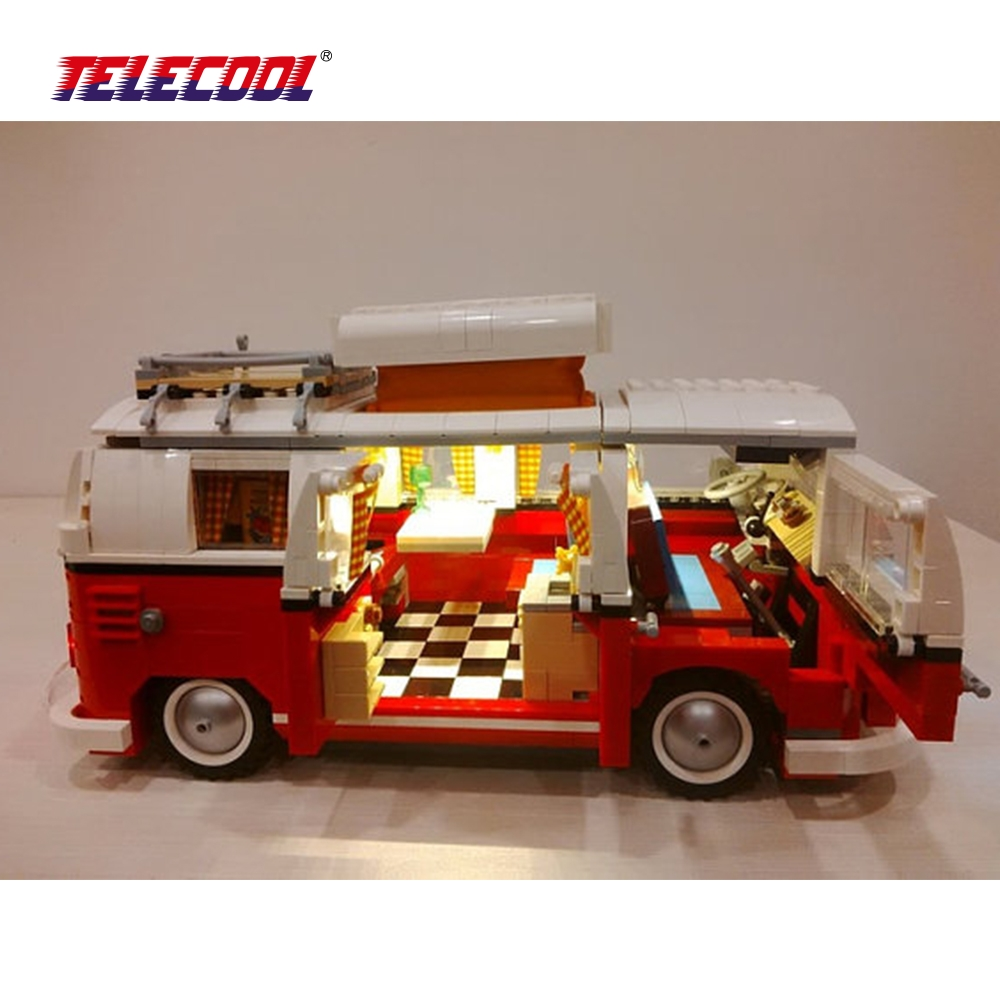 TELECOOL LED Light Building Blocks Toy (Only light set) For Creator Series The T1 Camper Van Model Lepin 21001 and Brand 10220 telecool led light building blocks toy only light set for creator series the t1 camper van model lepin 21001 and brand 10220