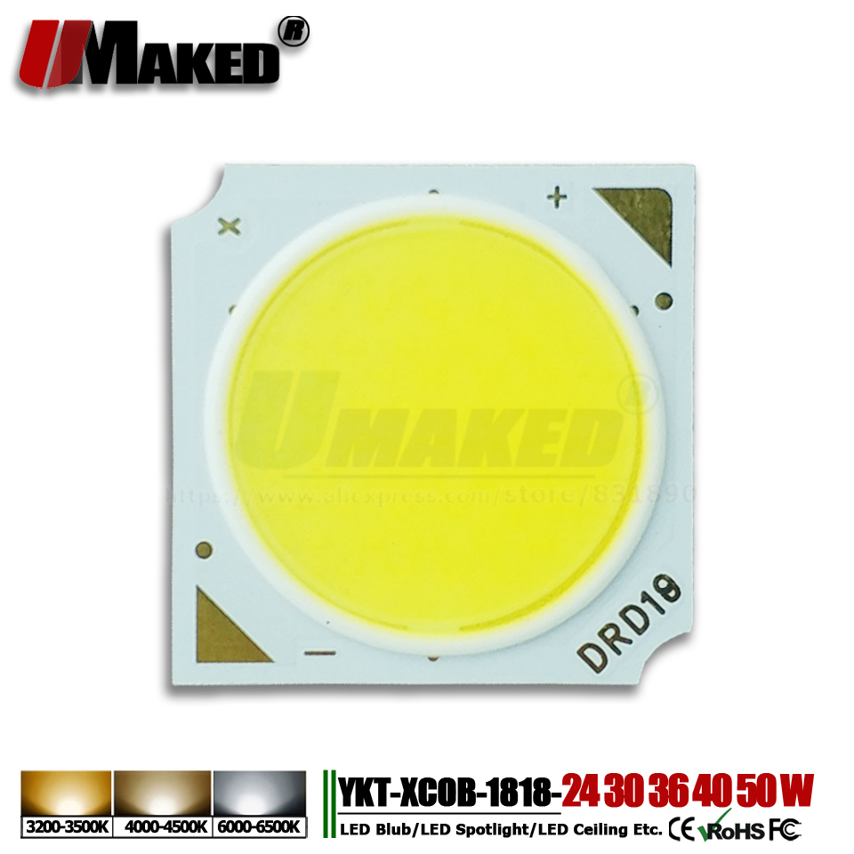 10Pcs High Power LED Chips 24W 30W 36W 40W 50W 1818 14mm 17x34mil SMD COB diode