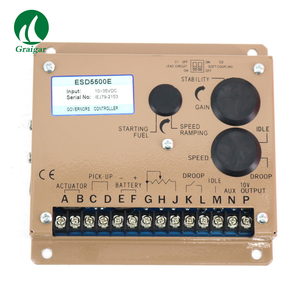 Generator Speed Controller ESD5500E Engine Speed Governor Speed Governor GAC ESD5500E brand new aftermarket engine speed controller efc3044196 fits 12 24v generator