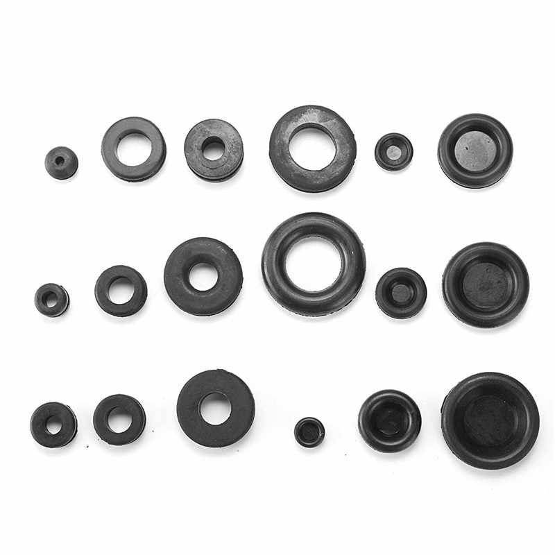 MTGATHER Rubber Grommets Kits Plug Wire Ring Assortment Set Electrical Wire Gasket Tool Blanking Open Closed Blind Grommets Best