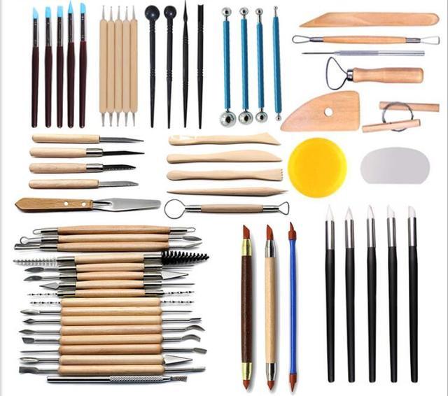 Искусство ремесла глина скульптуры инструменты резьба, керамика набор инструментов Керамика & amp керамика деревянная ручка инструменты для...