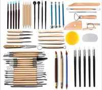 Arts Crafts Clay Sculpting Tools Pottery Carving Tool Set Pottery & Ceramics Wooden Handle Modeling Clay Tools