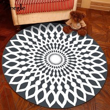 Zeegle Mandala Round Carpet Computer Chair Area Rug Children Play Tent Floor Mat Living Room Coffee Table Chair Cushion(China)