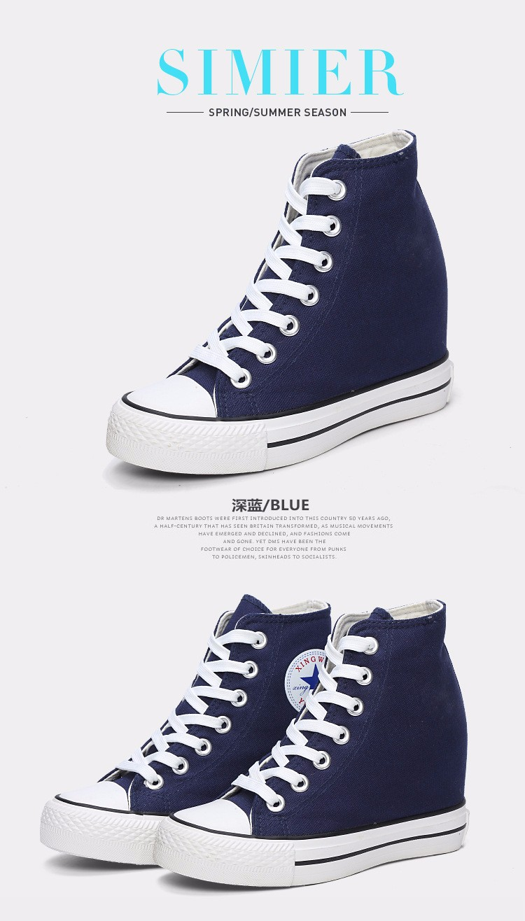 KUYUPP High Top Canvas Women Shoes Espadrilles Spring Autumn Womens Wedges Shoes Lace Up Casual Shoes For Female Sapatilha YD120 (29)