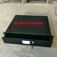 Flight case accessories,Iron drawer,2U standard cabinet drawer 19 Inch Racking Rack Drawers