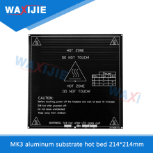 MK3 Heated Bed 12V/24V Black Hot Bed For Reprap Mendel HeatBed 3D Printer Parts 214*214*3mm Aluminum Plate 3mm PCB Accessories 3d printer heated set heatbed mk2a aluminium bed mount plate borosilicate glass plate for reprap prusa mendel
