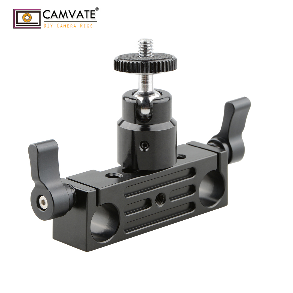 2x 1//4 Threaded Stud Hot-Shoe Clamp Adaptor for Camera Accessory Shoe Mounting