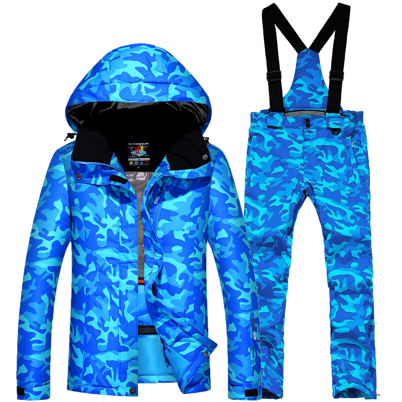 2018 Women`s Ski Suit Waterproof Super Warm Mountain Skiing Suit Outdoor Ski Jacket+Snowboard Pant Ski Free Shipping le suit women s water lilies woven pant suit with scarf