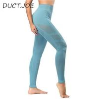 DUCTJOE New Seamless Leggings Workout Women Pants High Waist Gym Leggins Push Up Eyelet Knit Active Wear High Elasticity Leggins