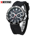 CURREN 2016 fashion watches men analog military Silicone sport watch quartz male wristwatches relogio masculino 8185