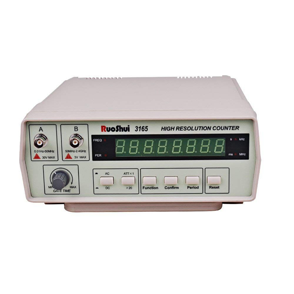 VC3165 Frequency Counter frequency meter Precision Meter Intelligent Digital 0.01Hz -2.4GH, EU plug цена