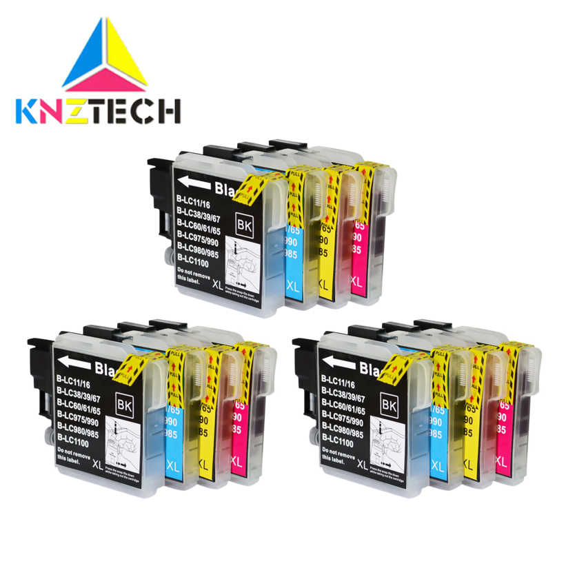 Kompatibel Ink Cartridge LC11 LC16 LC38 LC39 LC60 LC61 LC65 LC67 LC975 LC980 LC985 LC990 LC1100 untuk BROTHER DCP- j140W Printer