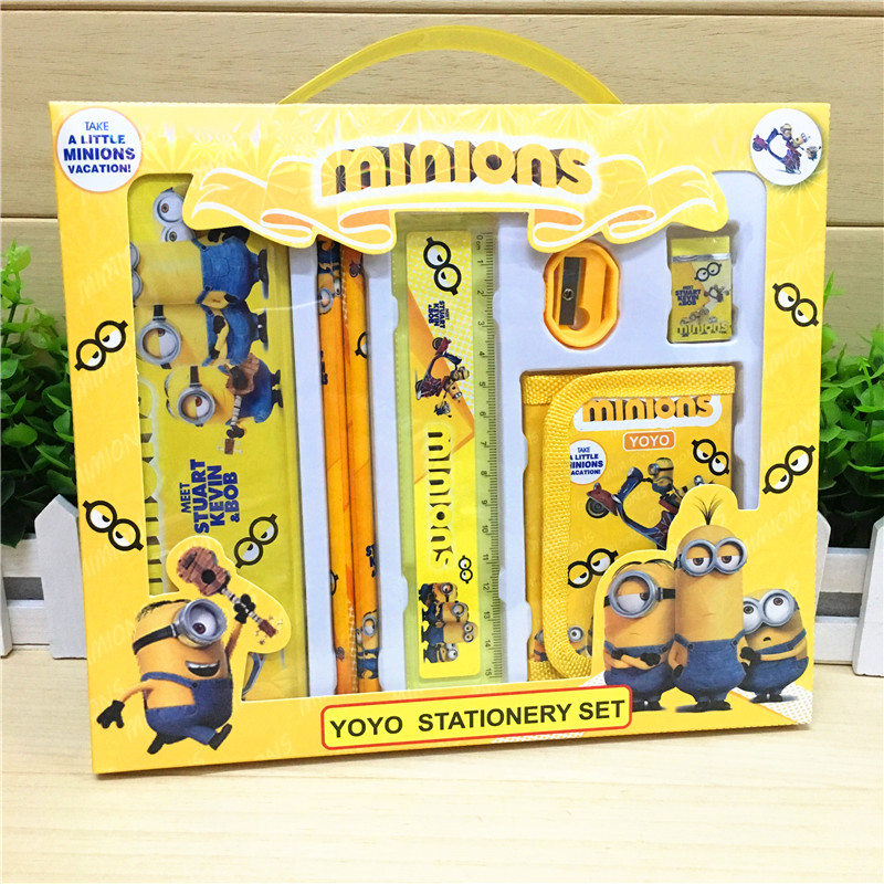 7 pcs/set cartoon minion stationery set novelty kawaii students school supplies children back to school study high quality factors contributing to indiscipline among high school students