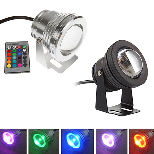 2016 Hot item! 10W 12V RGB Colorful LED Underwater Light Fountain Lamp Bulb With Remote Control ...