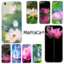 Maiyaca Bunga Cina Lotus Lucu Aksesoris Case untuk iPhone 11 Pro 8 7 66S Plus X 10 5S se X XR X Max Coque Shell(China)
