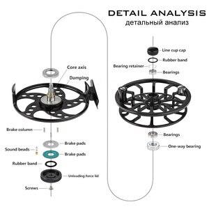 Image 4 - אלומיניום לטוס דיג סליל 3/4 5/6 7/8 WT גבוהה באיכות שמאל וימין יד לשנות דיג גלגל CNC גדול ארבור סליל דיג לטוס