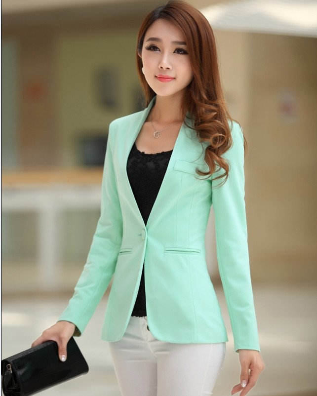 2020 Candy Color Temperament Spring Autumn New Bright Yellow Suit Women Blazer Jacket