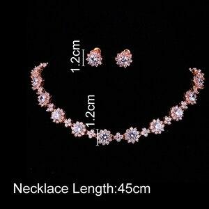 Image 2 - Emmaya ensembles de bijoux de luxe en cristal Zircon cubique, ensembles collier boucles doreilles pour femmes, fête de mariage
