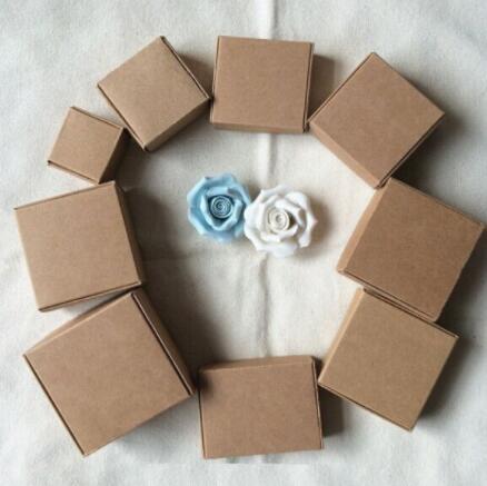 500gsm Thick Custom kraft cardboard box, brown paper small